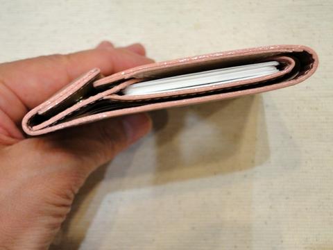 薄い財布(プラム)